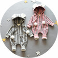 Retail 0-9months Bebé Infantil de dibujos animados de Manga Larga footies monos para niños niñas Ropa del mono ropa de recién nacido