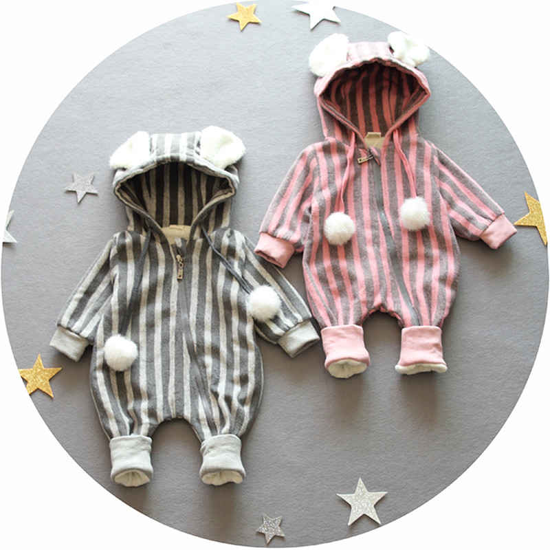 Retail 0 9months long Sleeved Baby Infant cartoon footies bodysuits for boys girls jumpsuits Clothing newborn clothes