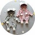 Varejo 0-9months longo-Sleeved Bebê dos desenhos animados Infantil footies bodysuits para meninos meninas macacões Roupas roupas de recém-nascidos