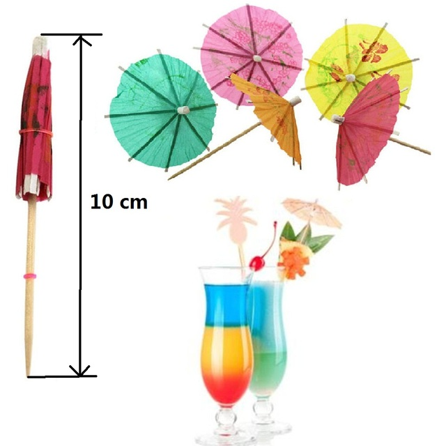 20pcs Lot 10cm Creative Mini Paper Umbrellas Toothpick Cocktail Birthday Cake DIY Decoration Drinks Event
