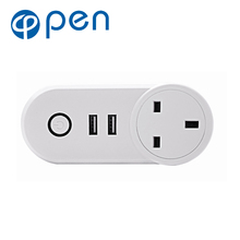 OPSA-002 10A Wifi Smart Switch Power Plug Socket UK 220V Wireless Light Outlet Timer Remote Control Support Alexa Google Home qiachip uk plug standard wifi low power smart home outlet light lamp switch socket remote control switch work with amazon alexa