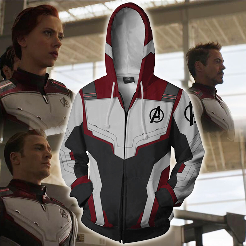 Hoodie Avengers Endgame Sweatshirt Jacket Cosplay Quantum Realm Advanced Tech End Game Superhero Costumes Mens Hoodie Men Women image