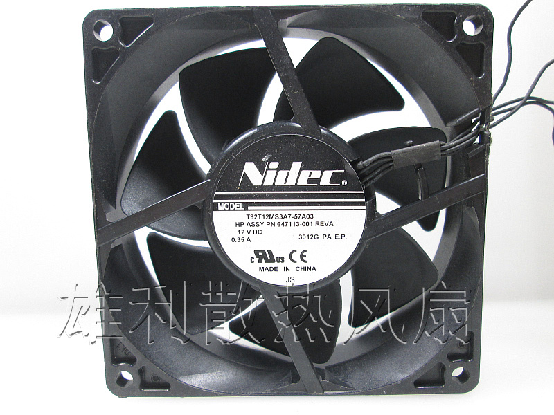 Free Delivery. Genuine T92T12MS3A7-57A03 12V 0.35A 9CM 647113-001 Cooling Fan free delivery 9025 9 cm 12 v 0 7 a computer cpu fan da09025t12u chassis big wind pwm four needle