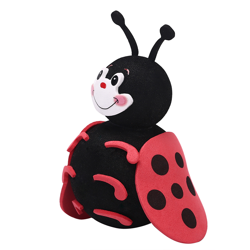 Auto Exterior Vehicle Lovely Smiley Ladybug Aerial Balls Antenna Topper Roof Decor Cute Car Antenna Toppers