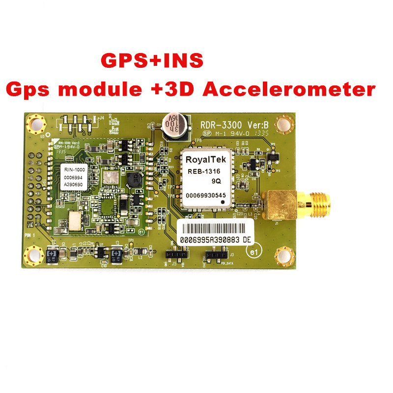 GPS INS combined module 3D Accelerometer module RDR3300 GPS INS module receiver for easy use in