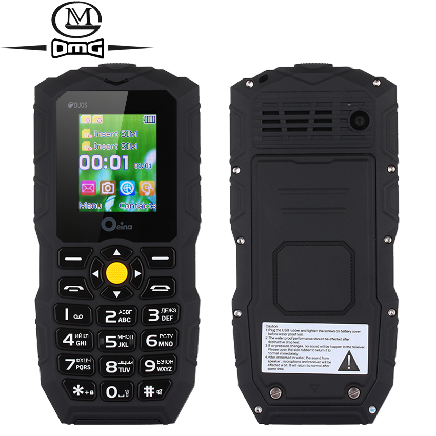 Russian Keyboard Waterproof shockproof mobile phone Dual SIM Quad Band Power Bank Wireless FM flashlight OEINA