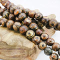 Tibetan Agate Beads Dzi Beads Round Carnelian Natural Stripe Stone DIY Jasper Loose Jade Gifts Jewelry Making 8mm 10mm 12mm