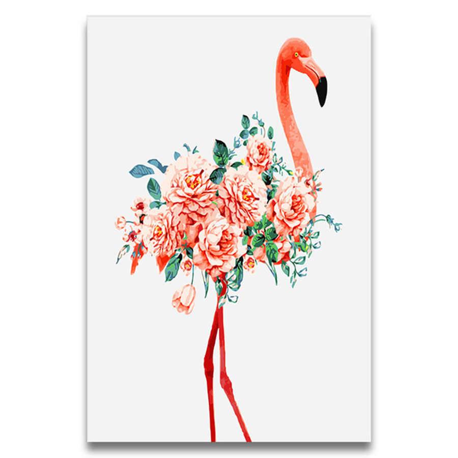 Flamingo Series Lukisan Menggambar Gambar Mewarnai Dengan