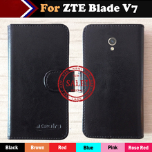 Hot!! ZTE Blade V7 Case Factory Price 6 Colors Dedicated Leather Exclusive For ZTE Blade V7 Phone Cover+Tracking смартфон zte blade v7 16gb серый bladev7lite4ggrey