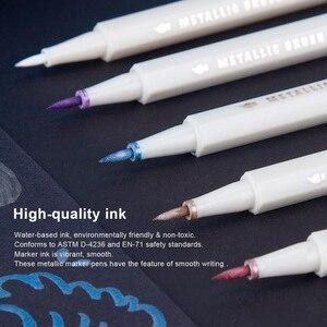 Image 3 - Arrtx AMP 1500 メタリックカラーペンプロファインポイント & ソフトブラシ 20 プランナーペン Diy フォトアルバムのための適切な /岩絵