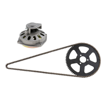 Clutch Drum Bell Housing & 25H 68 Links Drive Chain Sprocket for 49cc High quality and very durable