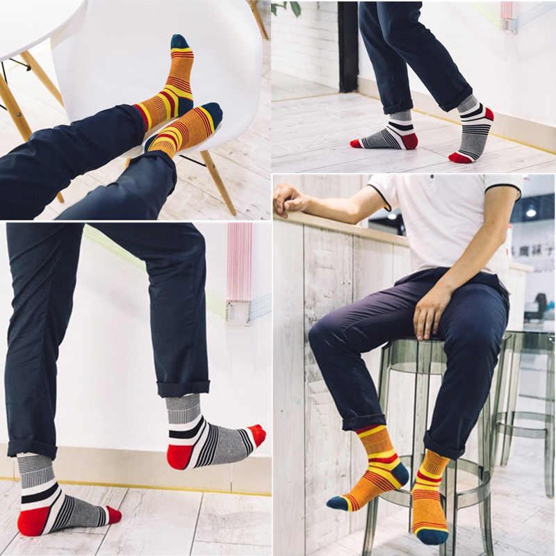 2020 Lente En Zomer Sokken Mannen Mode Toevallige Kleur Strepen Gelukkig Voor Zomer Katoenen Sokken Mannen