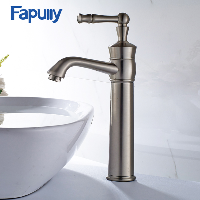 Fapully Bathroom Basin Faucet Single Handle Sink Mixer Tap Gilt Porcelain Bronze Deck Mounted Cold Hot Water TapFapully Bathroom Basin Faucet Single Handle Sink Mixer Tap Gilt Porcelain Bronze Deck Mounted Cold Hot Water Tap