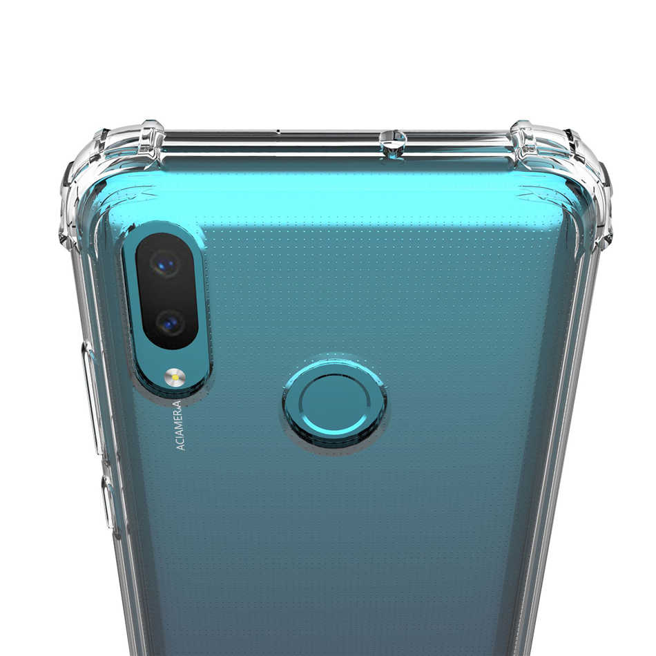 For Huawei P Smart Plus Case Crystal Clear Soft TPU Gel Reinforced Corner Bumper Cover for Huawei P Smart Plus 2019 Airbag Cover