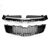 Car Styling ABS Black Shell Front Upper Lower Grill Grille With Honey Comb Mesh For Chevy