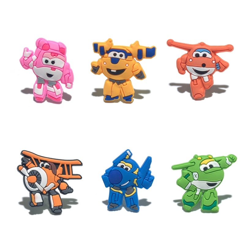 1pcs Super Wings Shoe Charms PVC Shoes Accessories Decoration Ornaments Small Gifts for Party Shoe Buckles1pcs Super Wings Shoe Charms PVC Shoes Accessories Decoration Ornaments Small Gifts for Party Shoe Buckles