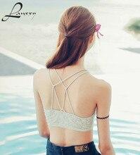 Lanxxy Lace Bralette Top 2015 New Fashion Sexy Lingerie Women Camisole Tanks Crop Tops Short Vest Blouse Tank