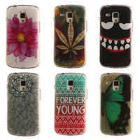 Phone Cases For Samsung Galaxy S Duos S7562 Case Soft Silicone Painted Phone Accessories Back Cover