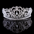 Bridal Tiaras 2017 Crowns King Crown Silver Crystal Queen diadema Bridal Wedding Accessories Headpiece Headband Wedding Tiara