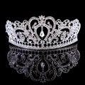 Tiaras de novia 2017 Coronas Rey Reina Corona de Plata de Cristal diadema Nupcial Accesorios de La Boda Celada Diadema Tiara De La Boda
