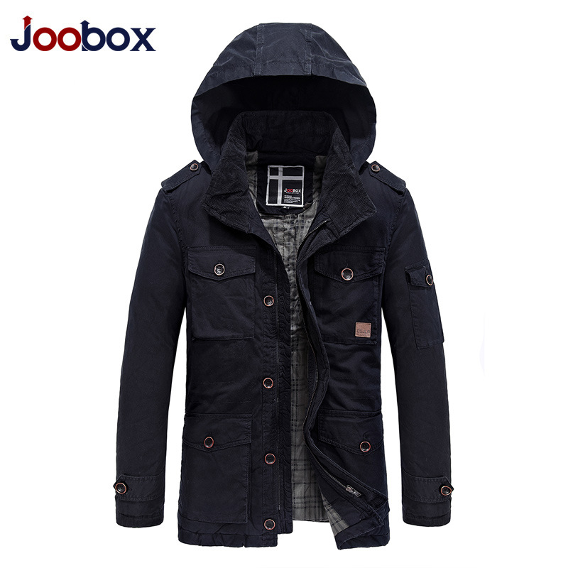 JOOBOX Brand 2018 High Quality Cotton 100% Mens Winter Jackets And Coats Hooded Thick Warm Casual Young Men Parka Fit Snow Cold men warm coats winter snow thick hooded slim fit down parka brand design casual cotton fashion padded outwear sl e437