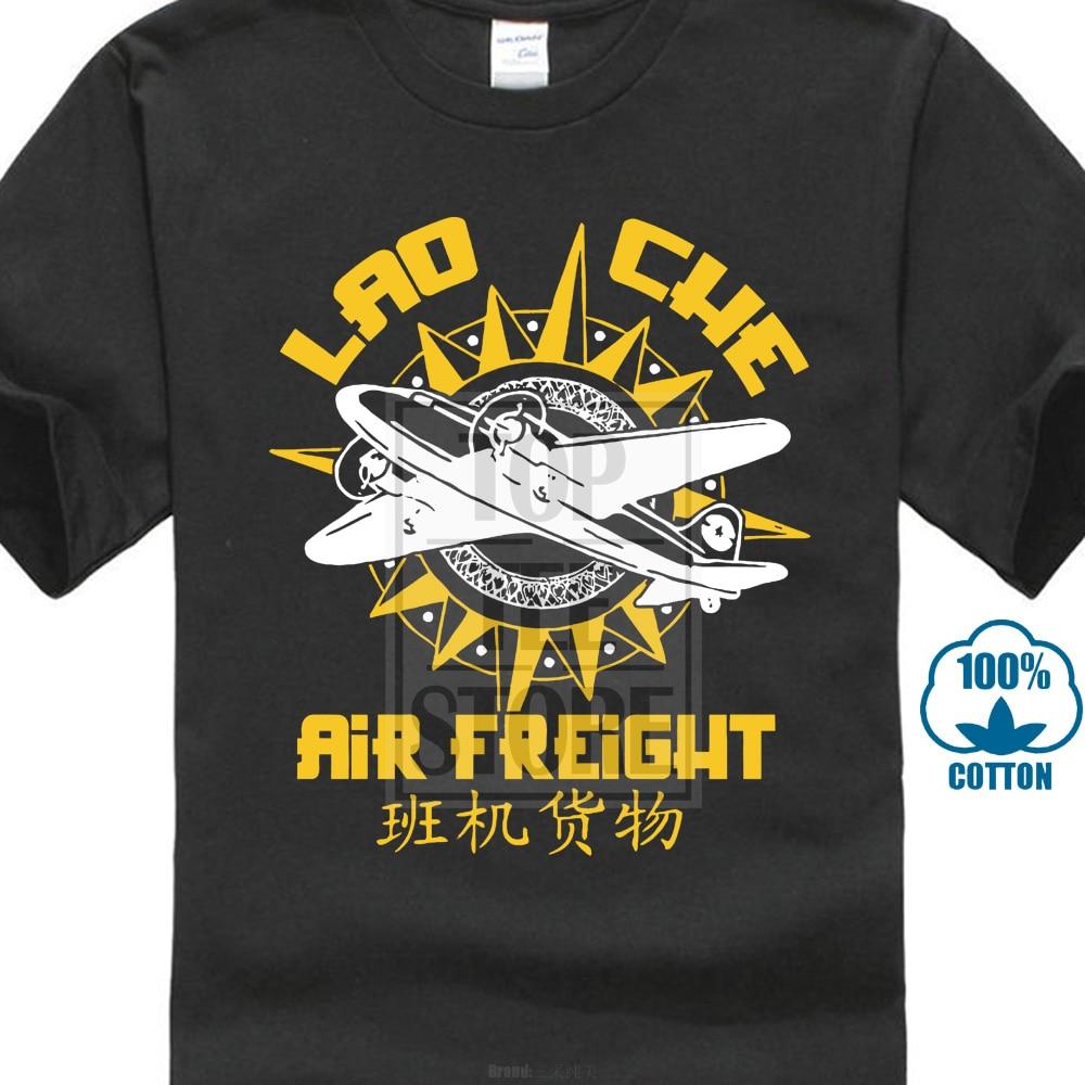 Lao Che Air Freight Indiana Jones Retro Movie Homme Tshirt Japanese Streetwear Tshirts Gym T Shirts Black And White