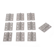 Mayitr 10Pcs Stainless Steel Cabinet Hinges Door Furniture Hinge 6 Holes for Kitchen Furniture Hardware Accessories