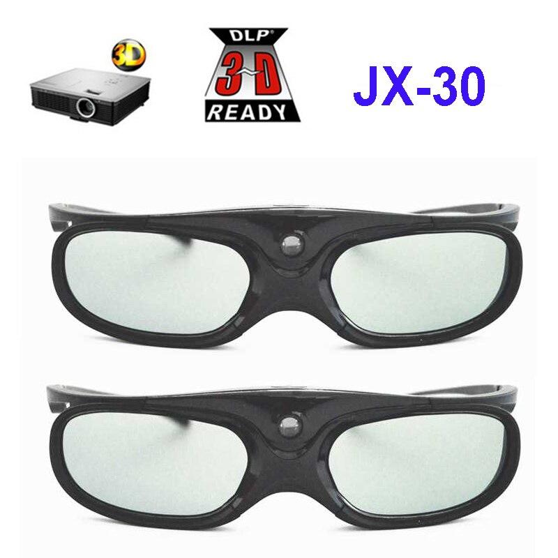 4402f8909 Óculos de Obturador ativo Recarregável 3D Apoio 96 HZ/120 HZ/144 HZ Para  Xgimi Z3/Z4/ h1/H2 Nozes G1/P2 BenQ Acer & Projetor DLP LINK