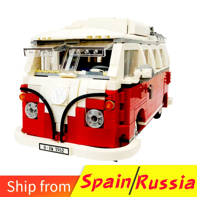 For LEGOing Technic Series Car The T1 Camper Van Model Building Blocks Gifts Compatible With LEGOings