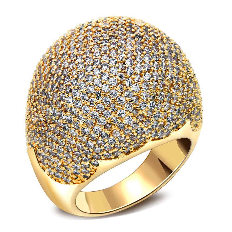 Fashion Punk Big Chunky Ball Shaped Women Bands Finger Rings Gold