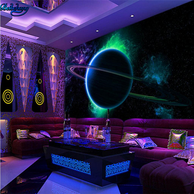 Beibehang Large Custom Wallpapers 3D Cool Globe Sphere Star Space TV Background Living Room Bedroom Walls