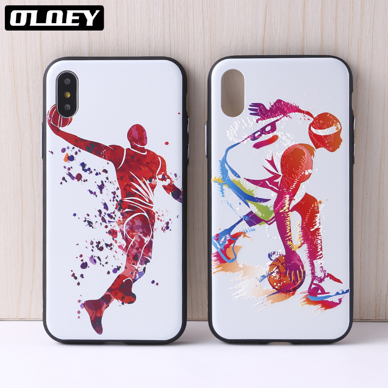 OLOEY Sport Basketball Kobe Bryant Wade Curry Phone Case Back Cover for iphone 5 6 6Plus 7 7Plus 8 8Plus X Cover Fundas