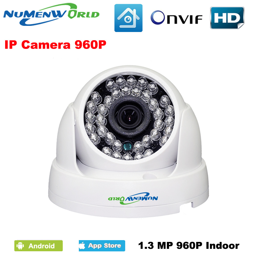1.3MP 960P IP camera with IR-CUT filter P2P ONVIF 36pcs IR LEDs Network IP Security webcam support Android iOS indoor home use