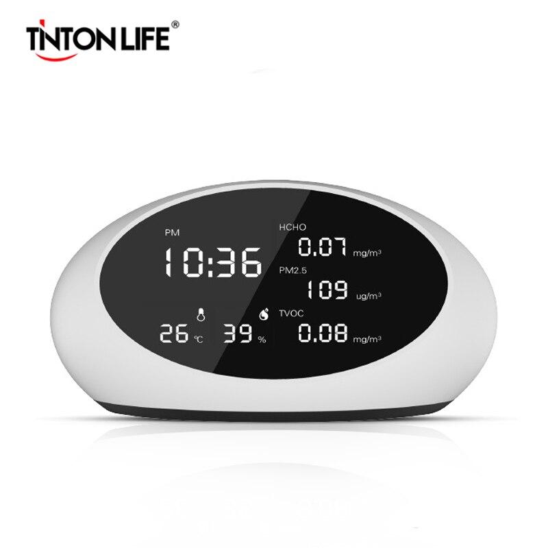 TINTON LIFE PM2.5 Gas Analyzers Digital Air Quality Detector & HCHO & TVOC Tester Meter Monitor Tester