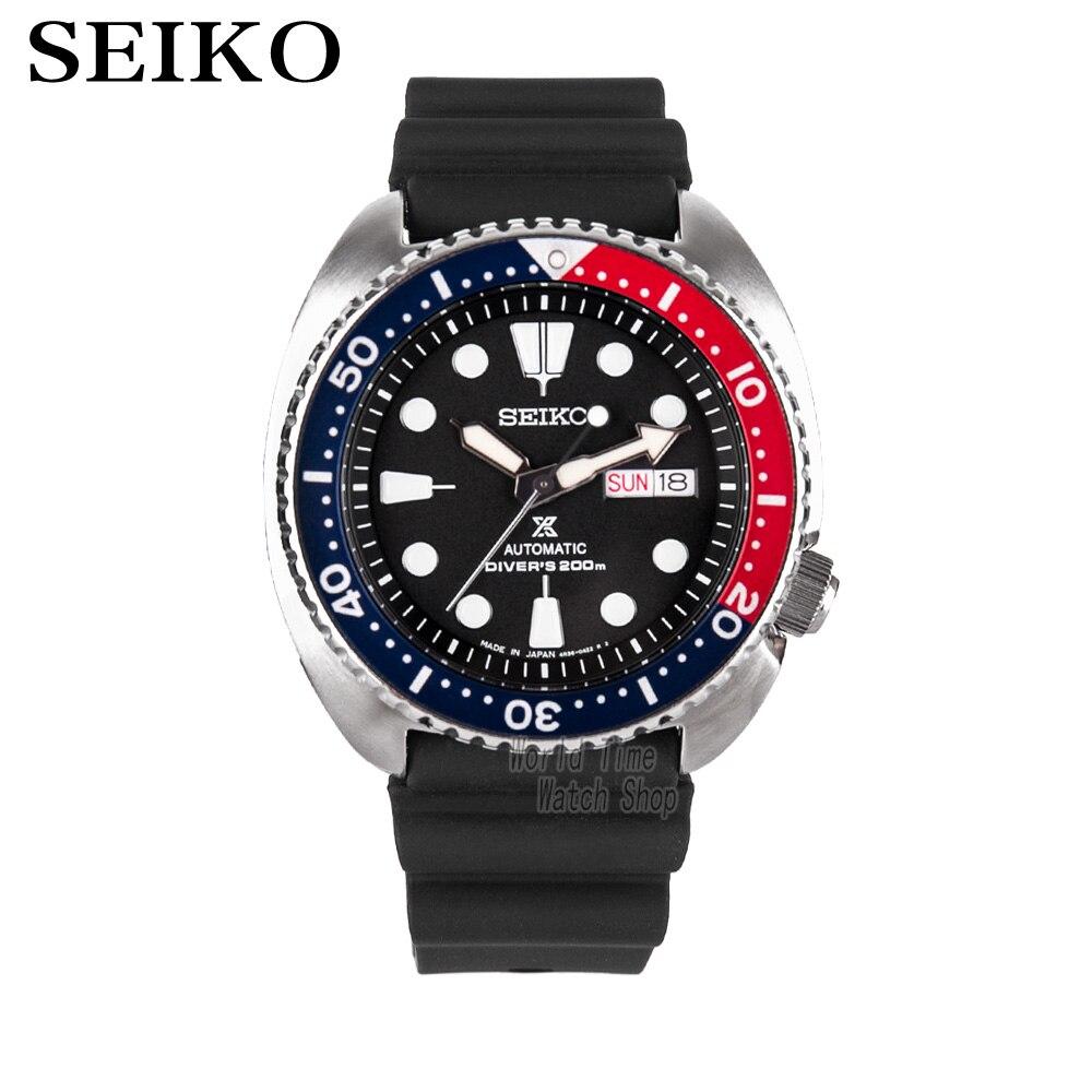 SEIKO Montre De Mode montre de plongée acier inoxydable hommes de montre Double langue calendrier SRP637K1 SRP759J1 SRP605K2