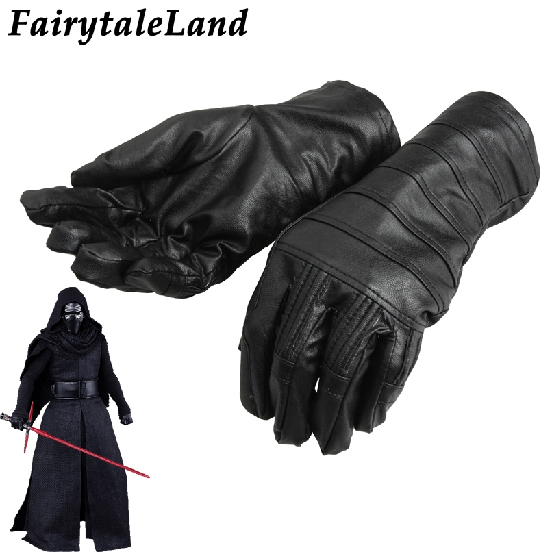 Star Wars Kylo Ren Gloves Superhero cycling leather gloves Halloween cosplay accessories Kylo Ren gloves Fancy Black Gloves