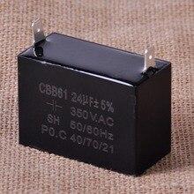 CITALL CBB61 24uF Plus minus 5 Small Gasoline Generator Capacitor 350V AC 50 60Hz Ceiling Fan