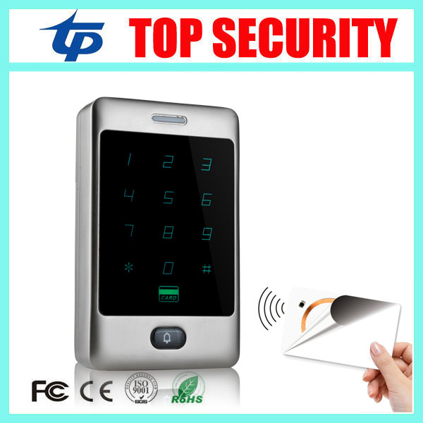 13.56MHZ MF card access control reader standalone door access control system surface waterproof IC card access controller smart 13 56mhz mf ic card proximity card access control door opener rfid surface waterproof standalone access control system