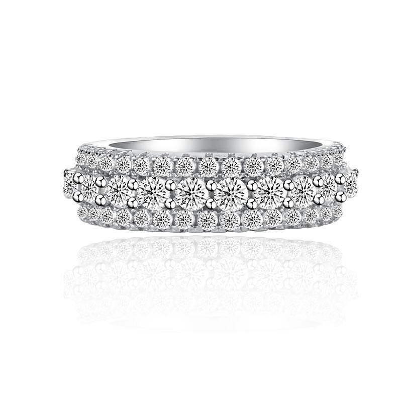 Image 5 - choucong Statement Rotatable Promise Ring 925 sterling Silver AAAAA Zircon cz Engagement Wedding Band Rings For Women Jewelry-in Wedding Bands from Jewelry & Accessories