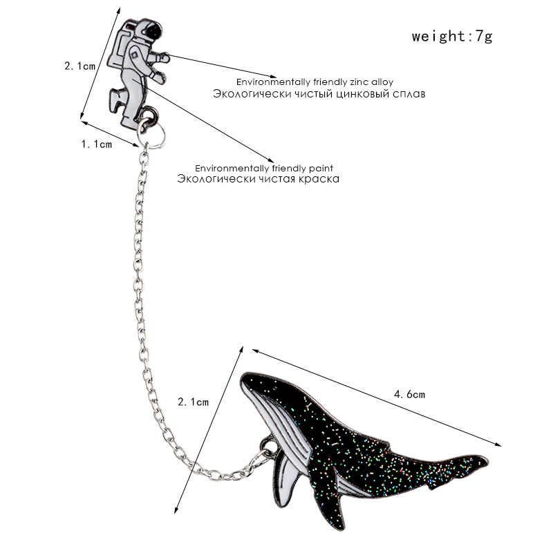 Preço de barganha espaço viagem coleção esmalte pino dos desenhos animados astronauta planeta estrela broche lapela pino personalizado crachá presente para crianças menina