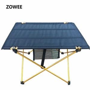 Image 2 - Mesa de acampamento ao ar livre mesa de piquenique de liga de alumínio à prova dwaterproof água ultra leve durável dobrável mesa para piquenique & acampamento