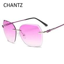 Top Quality Fashion Driving Sunglasse Women 2017 Reflective Brand Rimless Sun Glasses for Ladies UV400 Lunette De Soleil Femme