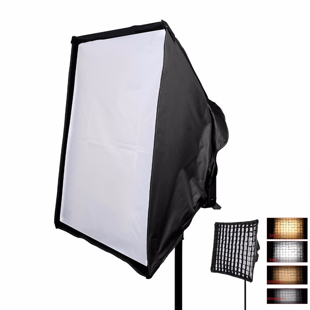 Fotopal LED Panels Flash Softbox Honeycomb Grid Diffuser Kit Photography Studio Continuous For Speedlight Aputure LS