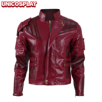 Guardians Of The Galaxy 2 Star Lord Jacket Cosplay Costume 2017 Peter Quill Red Coat PU