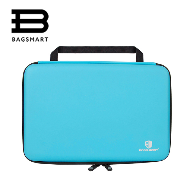 BAGSMART Blue Portable Camera Case For GoPro Hero Waterproof Collection Box GoPro Hero 4/3+/2/1 Case For Camera Accessories