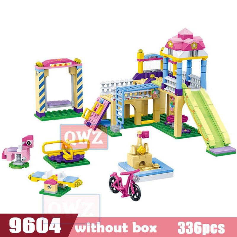 Legoes город девушка друзья большой сад вилла модель строительные блоки кирпич техника Playmobil игрушки для детей Подарки - Цвет: 9604 without box