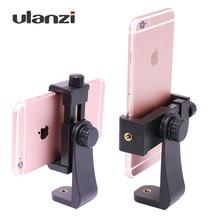 Ulanzi Tripod Mount/Cell Phone Clipper Vertical Bracket Smartphone Clip Holder 360 Adapter for iPhone Facebook Live Stream Vlog