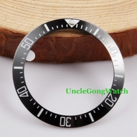 Watch Parts Corgeut 40mm Black Ceramical Bezel Fit For 44mm SEA Automatic Watches Timepiece Insert For