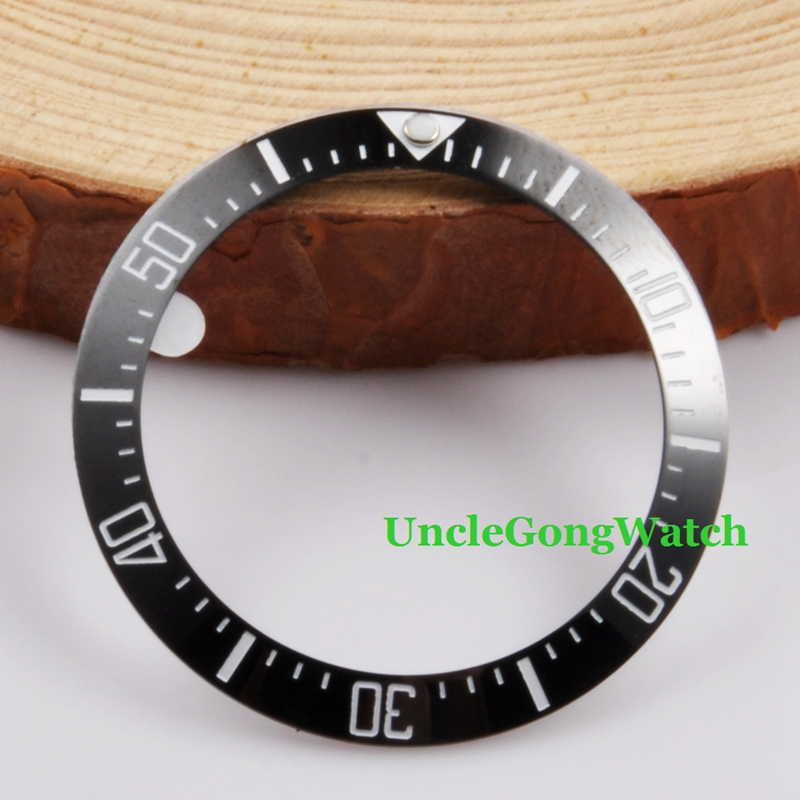 Watch Parts, 40mm Black Ceramical Bezel Fit for 44mm SEA Automatic Watches , Timepiece Insert for DIY Clocks BZ40SEABK