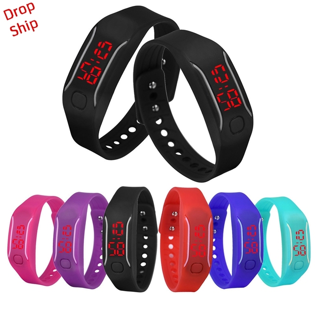 Delicate Mens Womens New Fashion Designer Silicone LED Watch Date Sports Bracele
